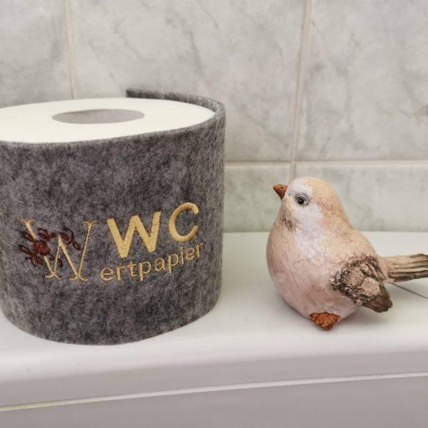 """Klopapierbanderole mit Spruch """"WC Wertpapier"""""""
