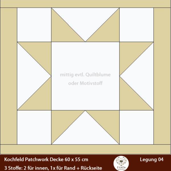 Patchworkdesign Legung für Herdabdeckung Kochfeldabdeckung