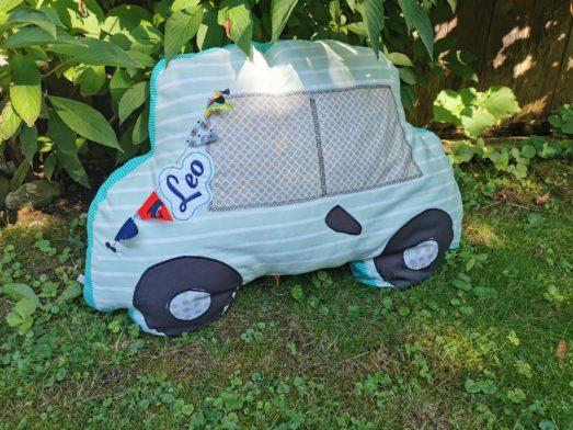 Autokissen Kissen Formkissen Auto mit Name und Füllung