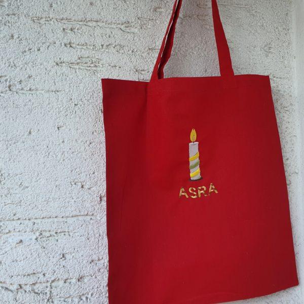 Kindergartentasche individuell mit Symbol und Name bestickt