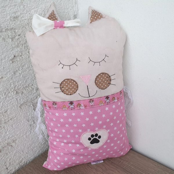 Nestchen Kissen für Bettumrandung in Form eine Katze