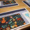 Tischsets Platzdeckchen handmade Patchwork Design