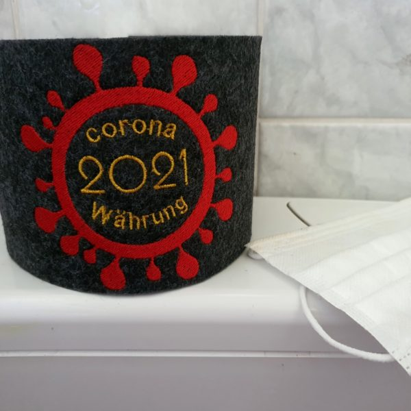 Klopapierbanderole, Filzbanderole für Toilettenpapier