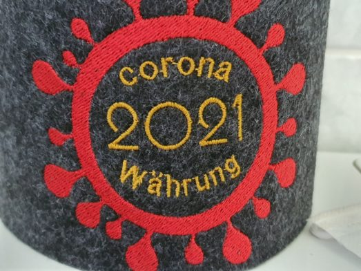 Corona 20201 Währung - witzige Klopapierbanderole, Filzbanderole für Toilettenpapier